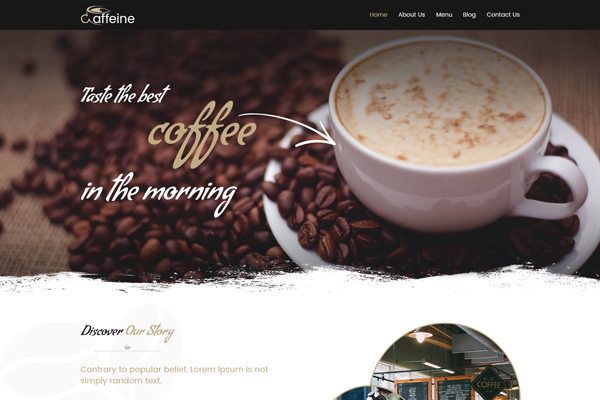 Caffeine WordPress Website Design