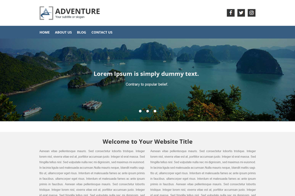 Adventure WordPress Website Design