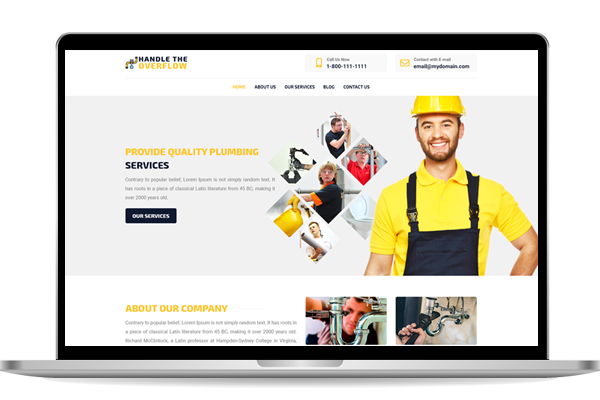Website designs for plumbers