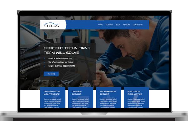 Website design for garage in london