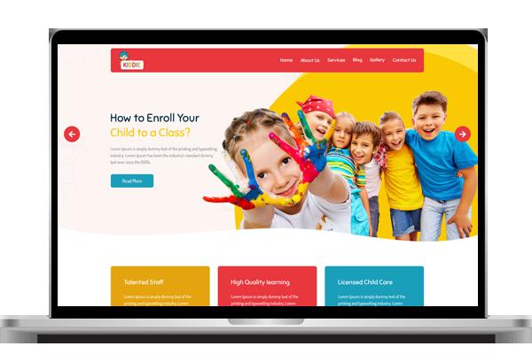 website design for kindergarten in essex