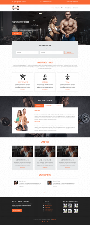 Website Template for Gyms