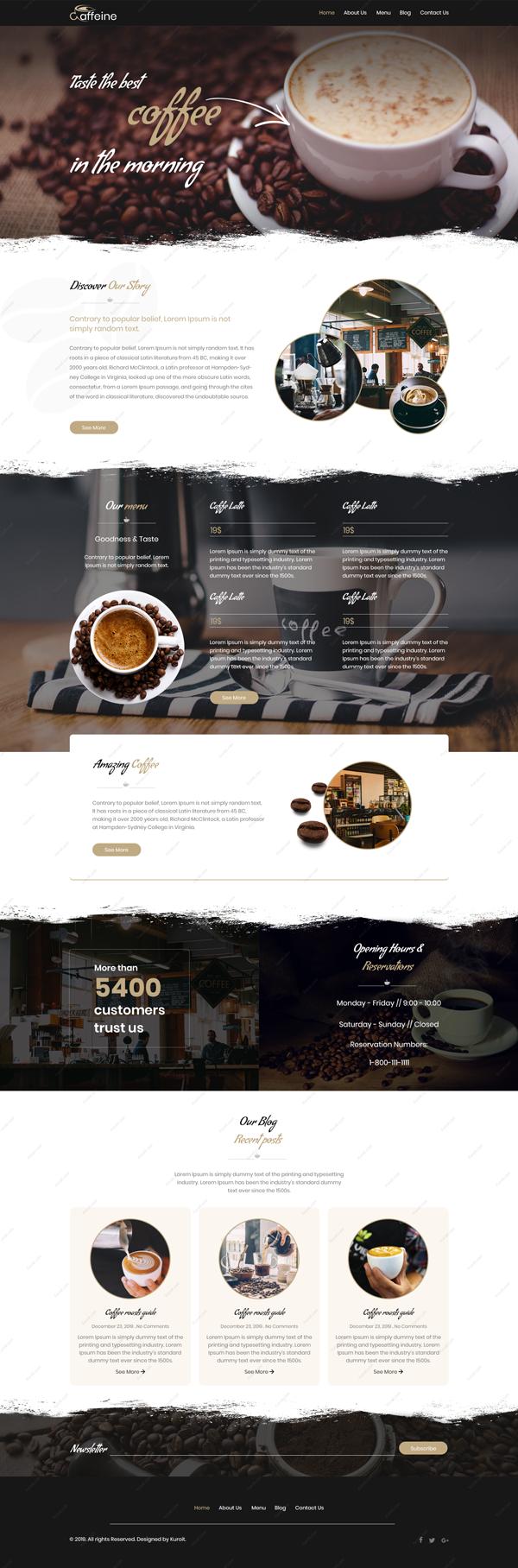 Caffeine-Website-Design