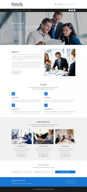 Business Website Template for Everyone