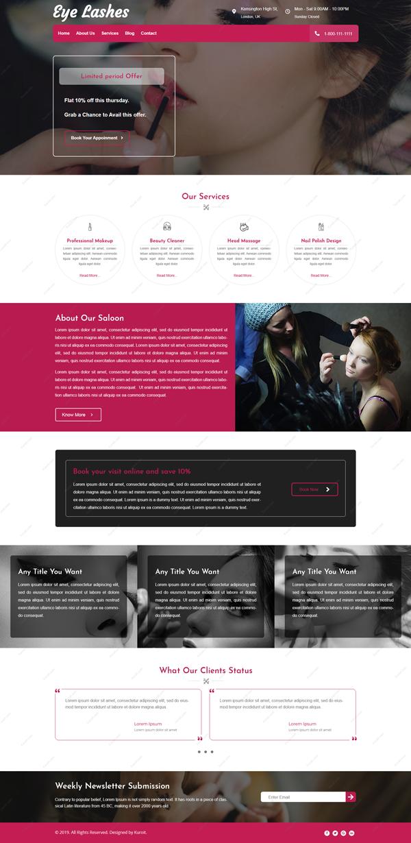 Eye-Lashes-Website-Design