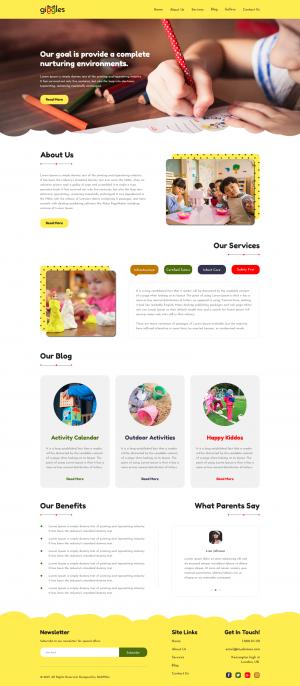 Website Template for Nursery and Kids School