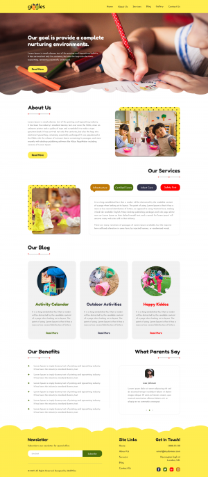 Website Template for Nursery and Kids School
