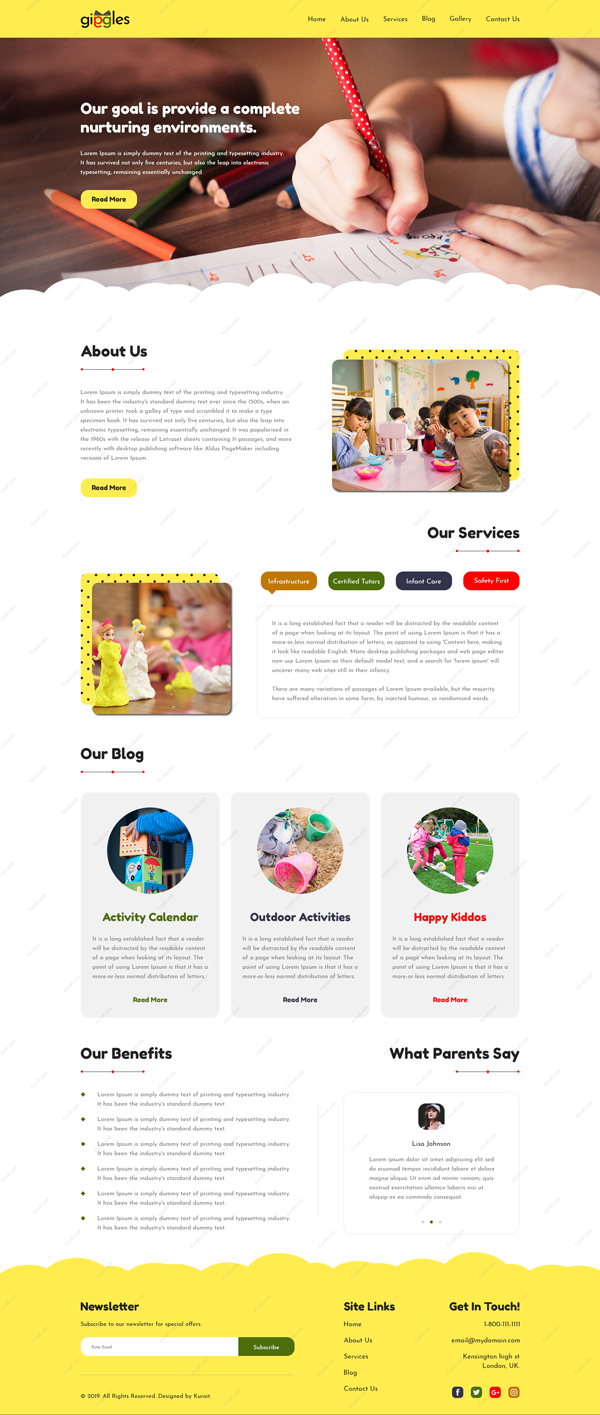 Giggles-Website-Design
