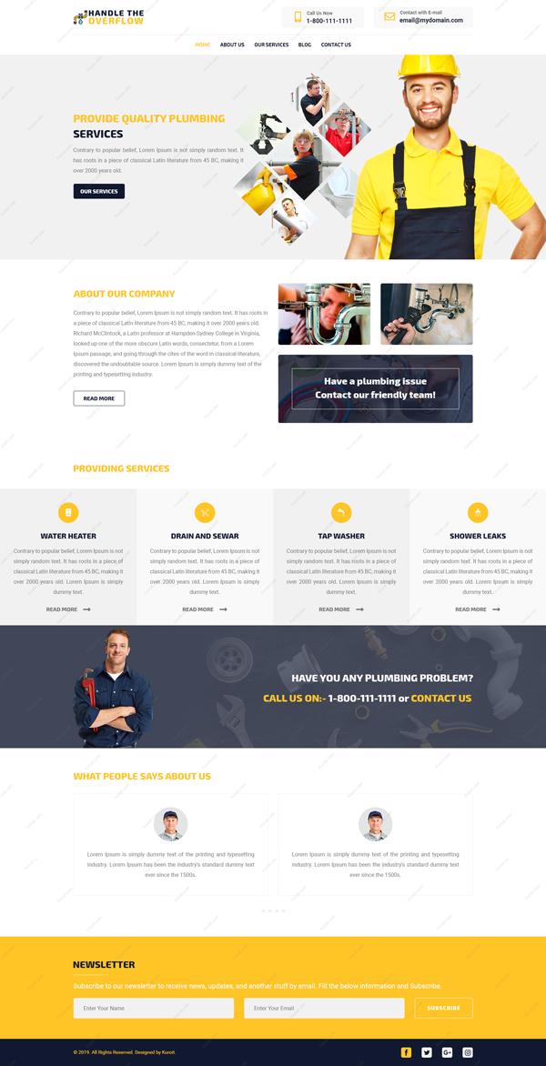 Handle-The Overflow-Website-Design