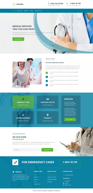 Website Template for Medical