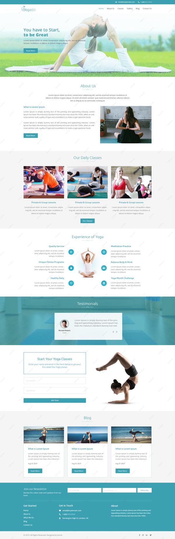 Yogastic-Website-Design