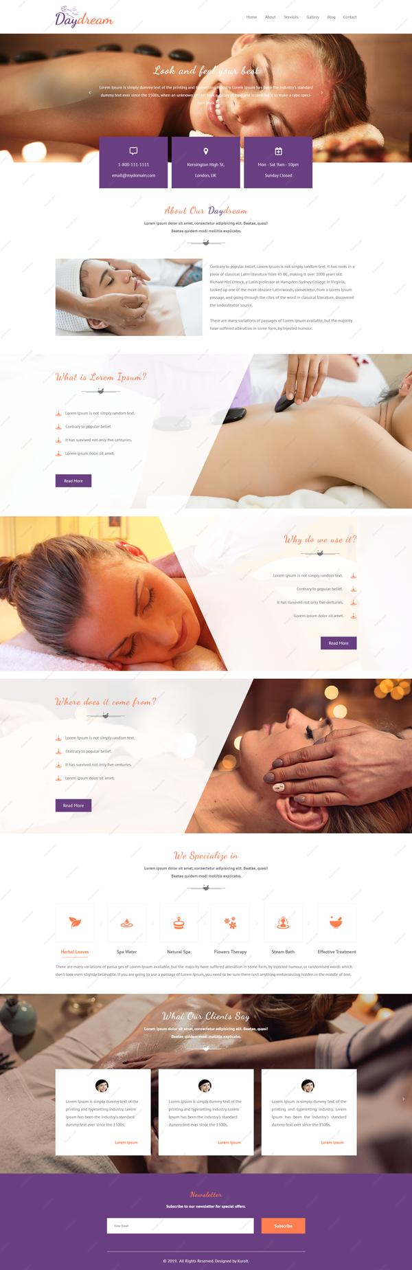 Website design for daydream